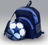 backpack with ball mesh compartment